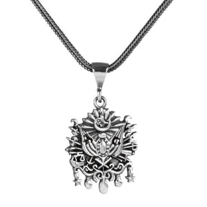 Sterling Silver the Ottoman State Crested Necklace