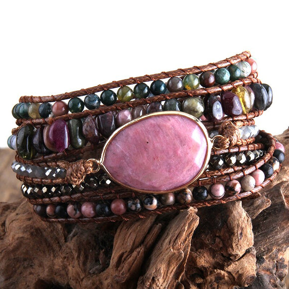 Handmade Mixed Natural Stones Bracelet