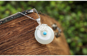 White Natural Jade Necklace