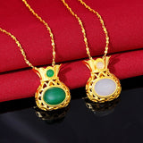 Jade Gemstone Pierscionki Bizuteria Necklace