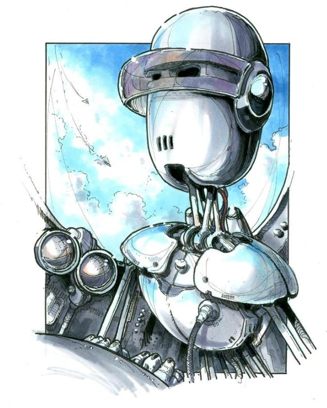 How to Draw a Robot Using Copic [Video] | Copic | 674 x 842 jpeg 93kB