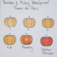 Copic Marker Test On Borden Riley Bleedproof Paper