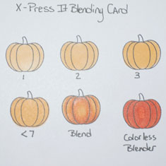 Copic Marker Test On X-Press It Blending Card
