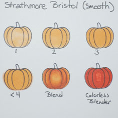 Copic Marker Test On Strathmore Bristol Smooth Paper