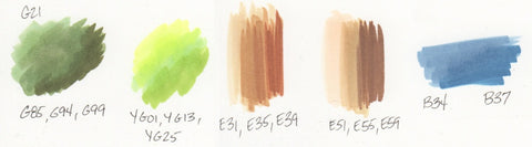 Copic Marker Blending Example