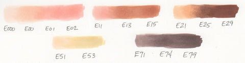Copic Skin Tone Blends