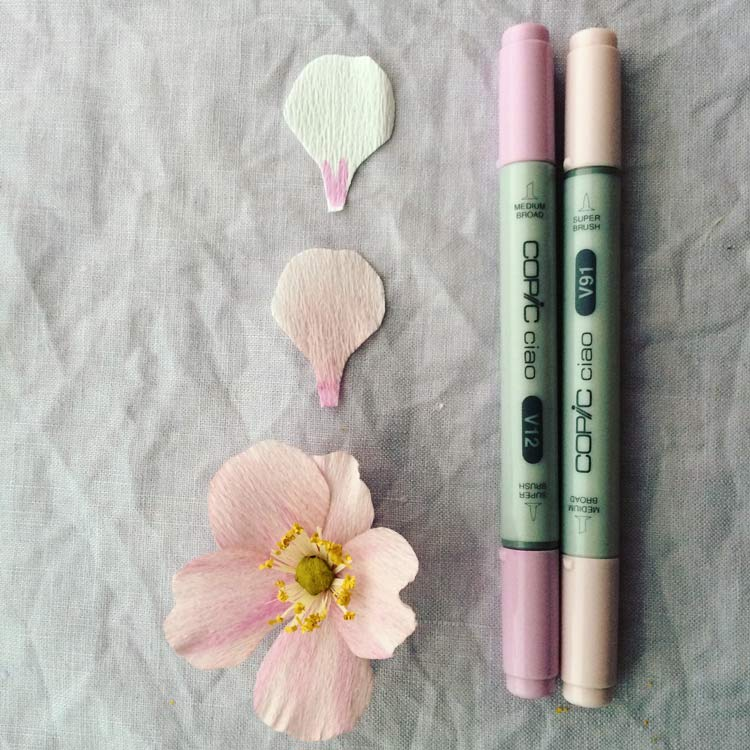 Color Paper Flowers | Copic Marker