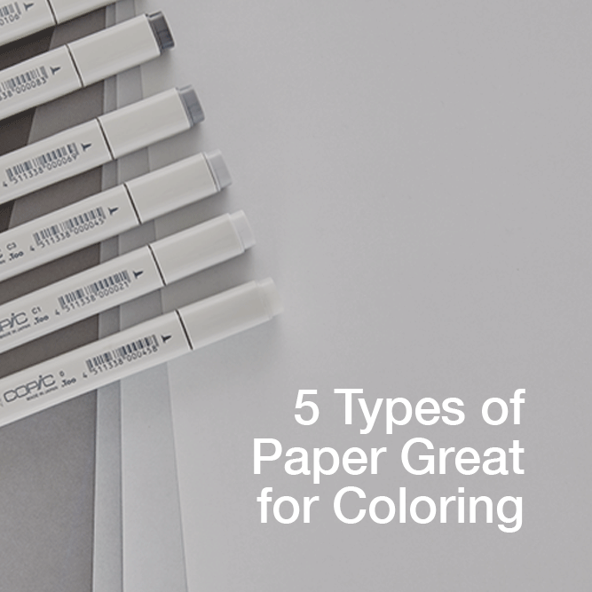 5 Types of Paper Great for Coloring