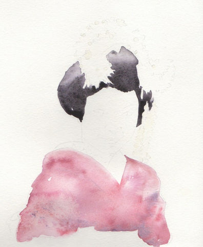 Geisha Illustration Outlined | Watercolors