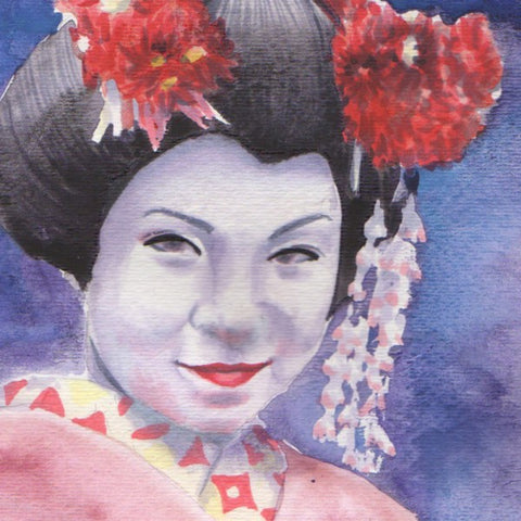 Detailed Geisha Portrait