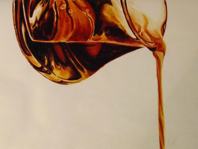 Glass Pitcher Pouring Syrup | Copic