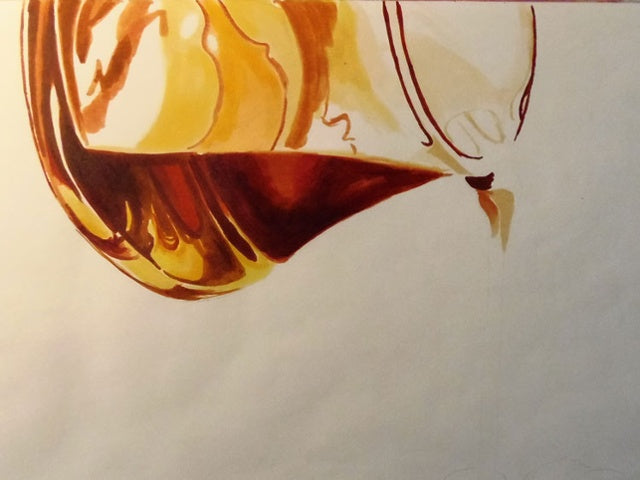 Illustrate Glass Syrup Pitcher Pouring Liquid | Copic