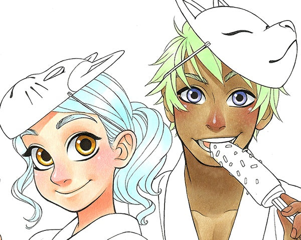 Coloring Manga Hair | Copic Markers