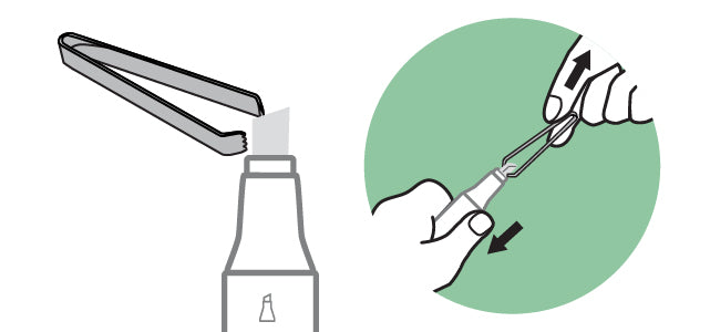 How To Properly Remove Nib Illustration | Copic Marker