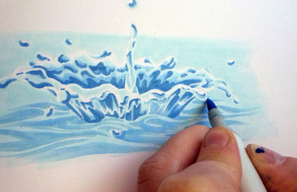 Surface Water Illustration | Copic