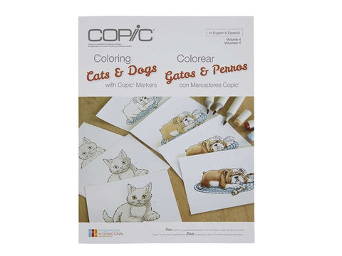 CF: Coloring Cats & Dogs with Copic Markers Book