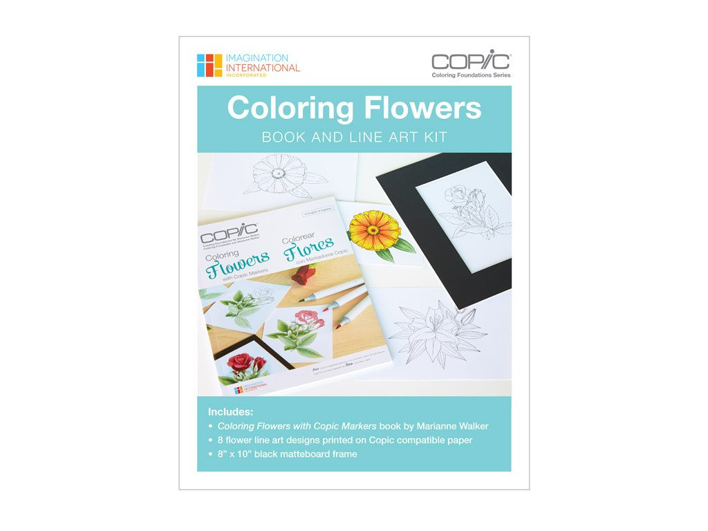 Coloring Foundations Flowers Book And Line Art Kit