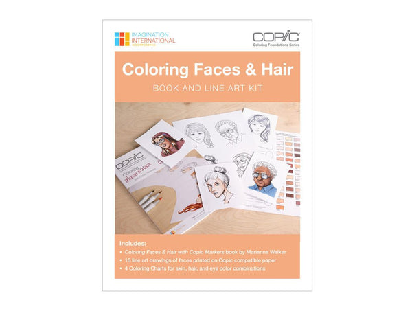 Coloring Foundations: Coloring Faces & Hair Book and Line Art Kit