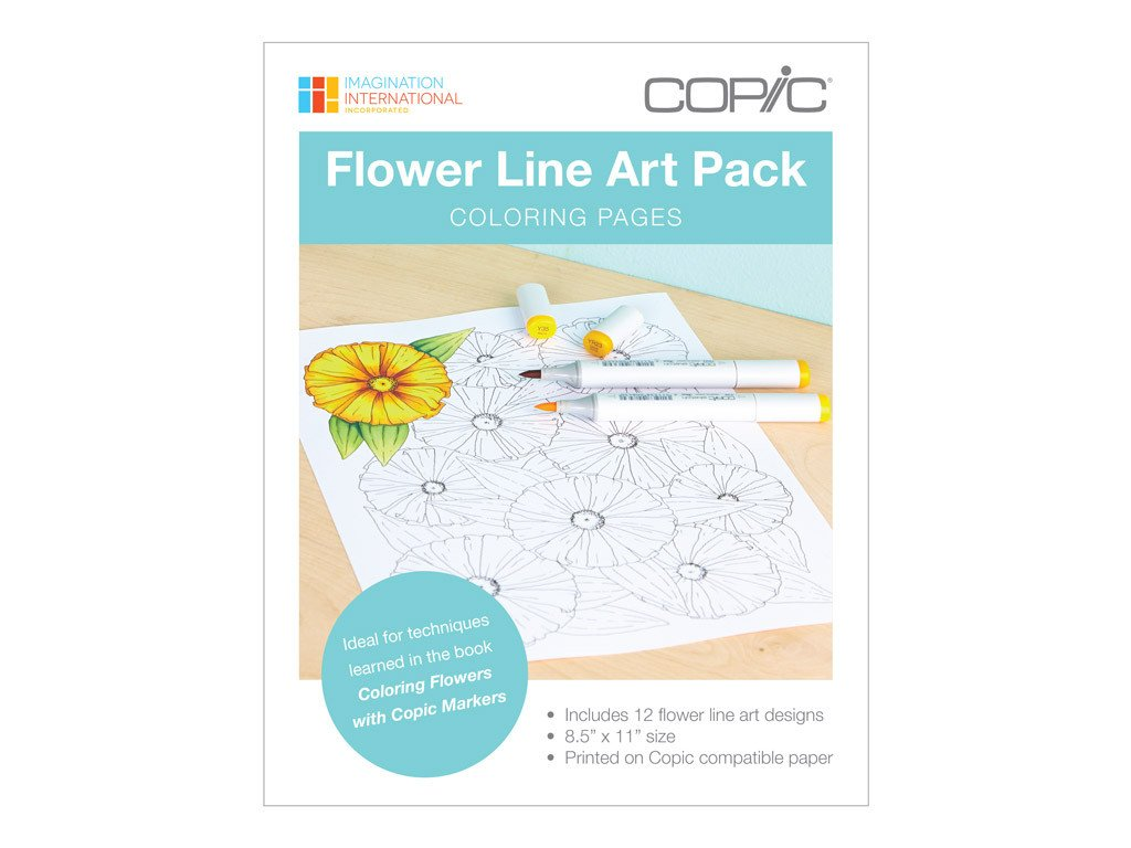 Coloring Foundations Flowers Line Art Pack