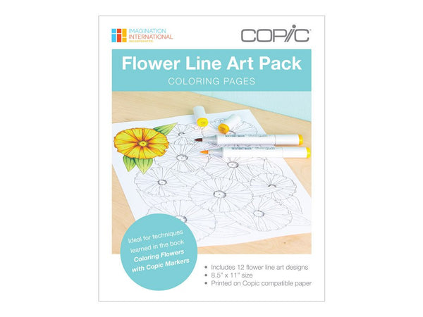 Coloring Foundations: Coloring Flowers Line Art Pack