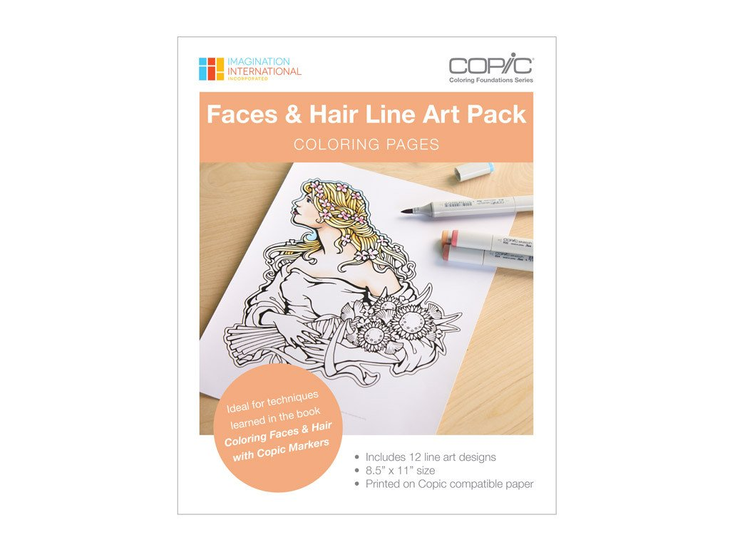 CF: Faces & Hair Line Art Pack