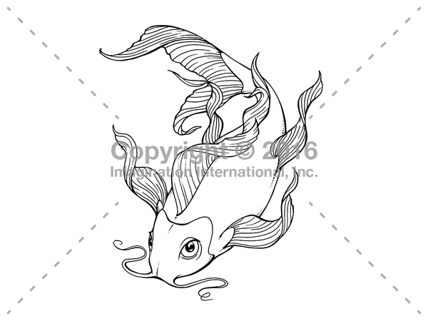 Downloadable Line Art for Coloring- Fish