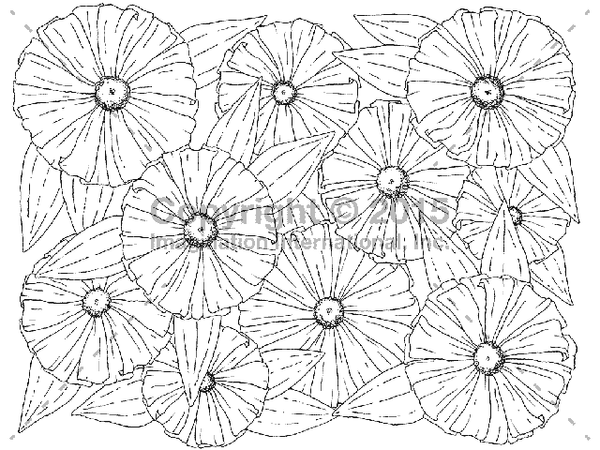 Downloadable Line Art for Coloring- Flowers