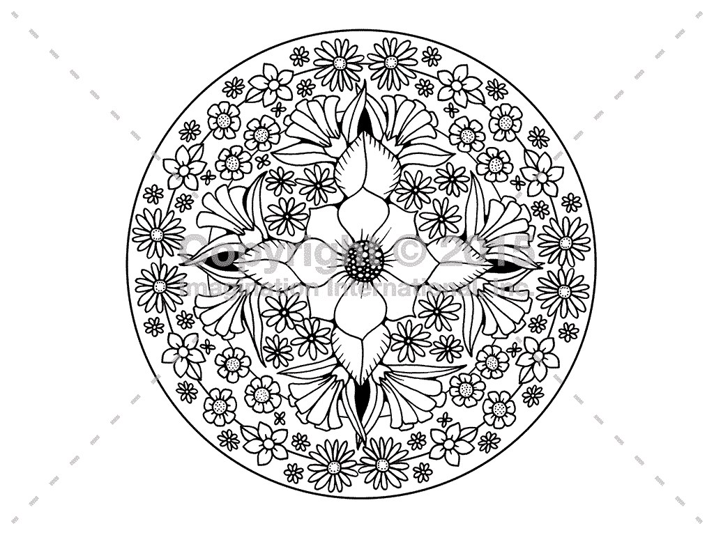 Downloadable Line Art for Coloring - Flowers