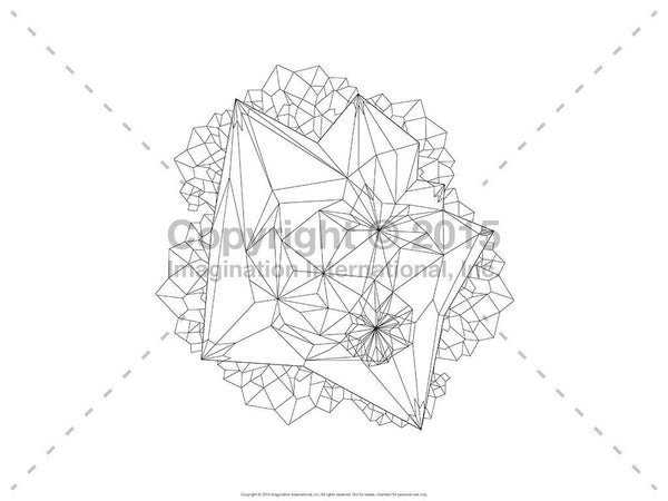 Downloadable Line Art for Coloring- Geometric Shapes