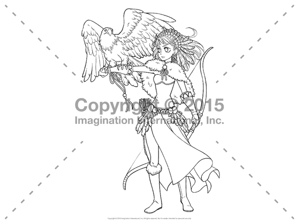 Downloadable Line Art for Coloring- Manga