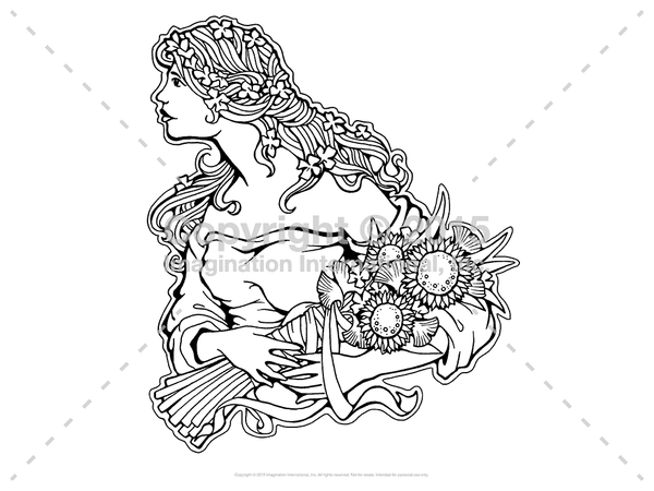 Downloadable Line Art for Coloring- People