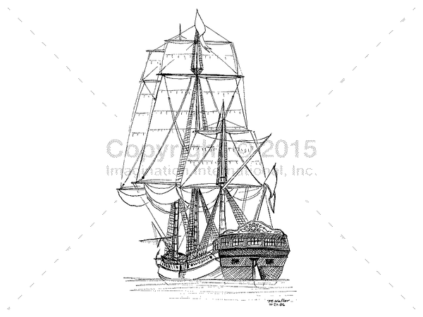 Downloadable Line Art for Coloring- Ships