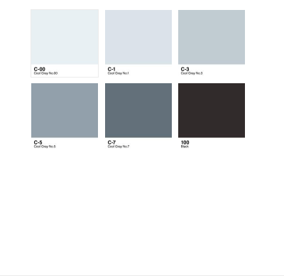 6pc Sketch Color Combo - Cool Gray