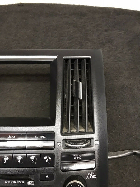 INFINITI FX35 FX45 2003-2006 Black Radio Display Screen AC Panel 28396-CG710 OEM