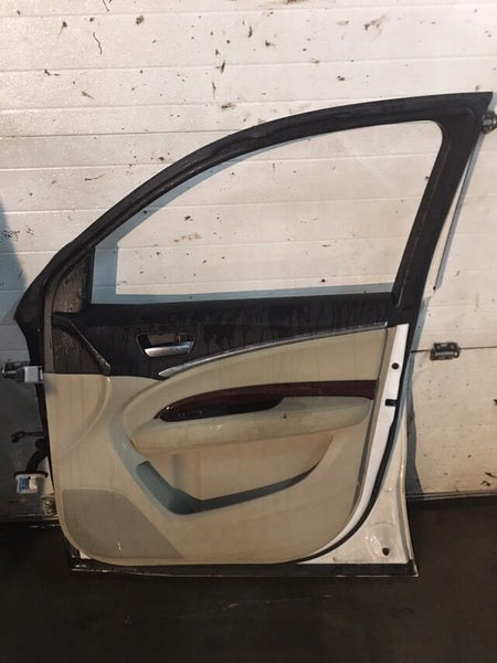 Acura MDX 2014 Front Right Door White Color Fits 2014-2015