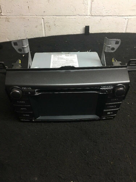 Toyota RAV4 Radio With Navigation  Display Part# 861000R071 / 100324 Fits 14-17