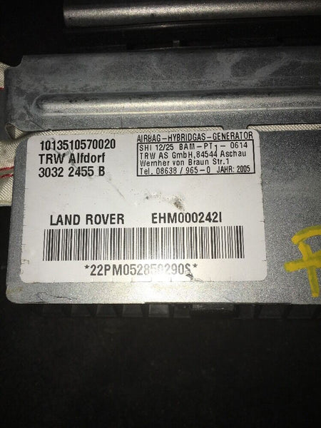 Range Rover Rear Right Passenger Side Roof Airbag Part# EH000242I Non deployed