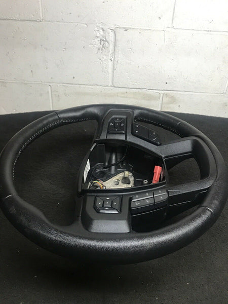 FORD F-150 LARIAT 2015-2017 Full Black Leather Steering Wheel W/ Controls OEM