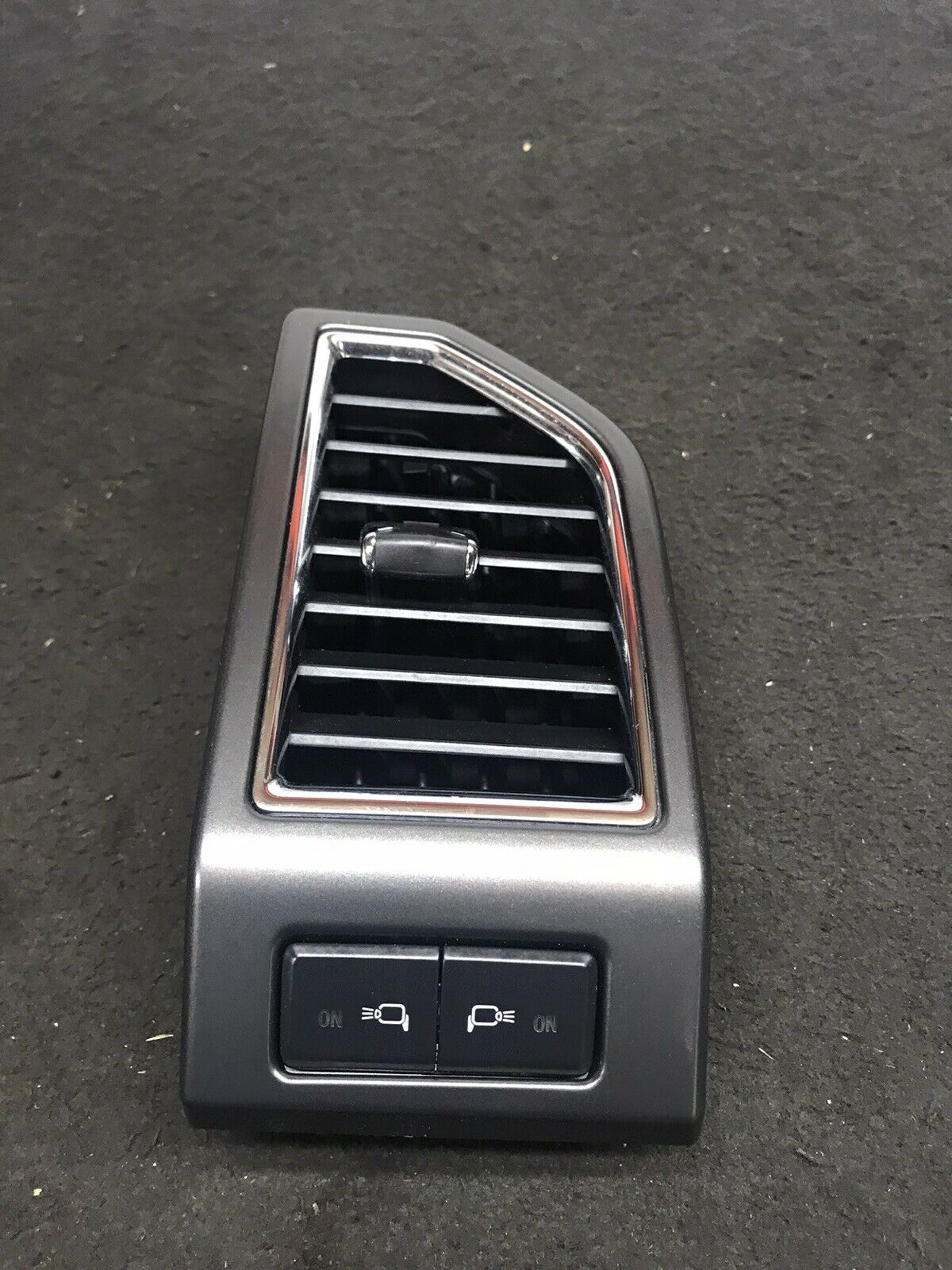 FORD F-150 2015-2019 Dark Gray Silver Left A/C Air Duck Vent W Light Control OEM