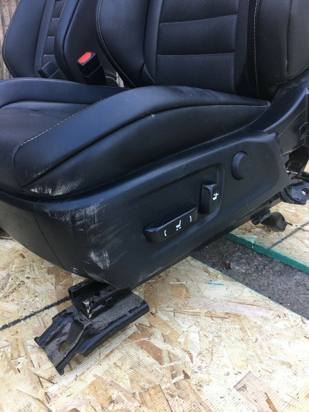 LEXUS IS250 F-Sport Front Black Leather Driver Passenger Seats W/O Airbag OEM