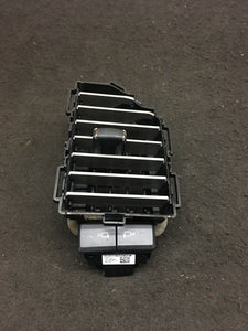 FORD F-150 2015-2019 Left Driver AC Air Duck Vent Silver Grill W/ Light Ctrl OEM