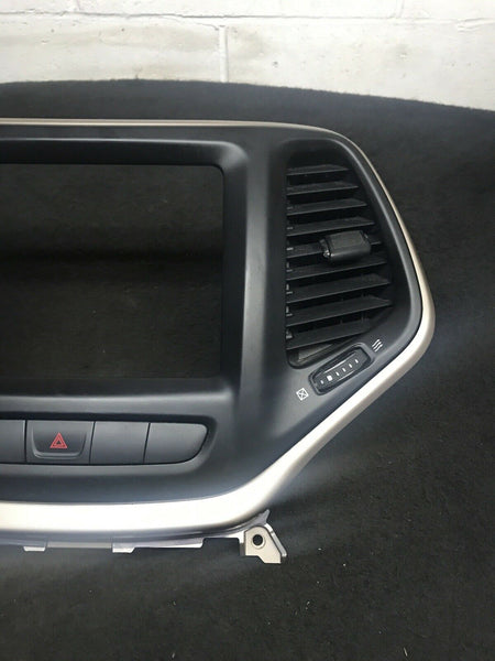 JEEP CHEROKEE 2014-2018 Center Navigation Radio Panel W/ Air Vent 1WP091S5AD OEM
