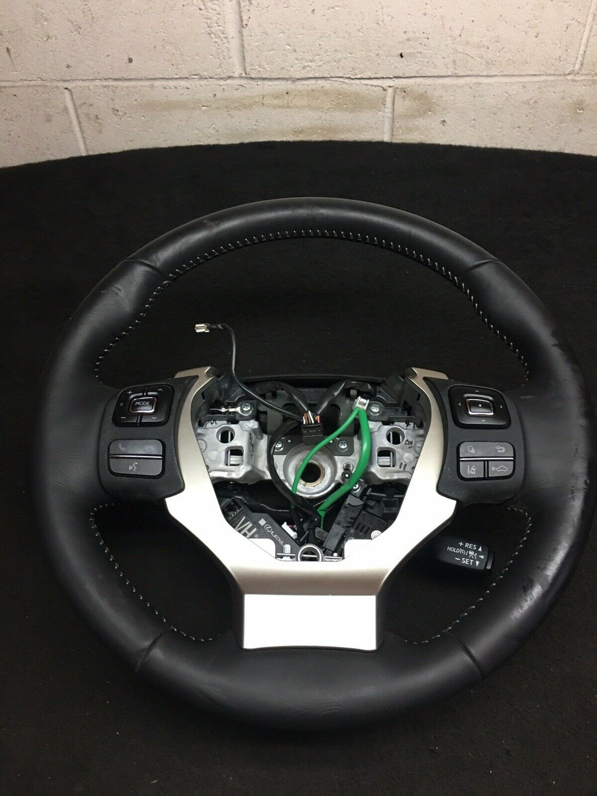 LEXUS IS300 2015-2017 Black Leather Steering Wheel W/ Control Original OEM