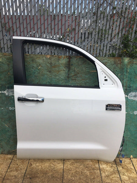 TOYOTA TUNDRA 2014-2018 1794 Edition White Front Passenger Door W/O Interior OEM