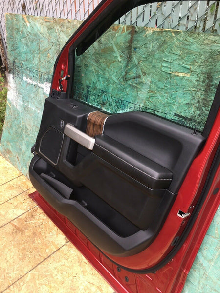 FORD F-150 2018-2019 Red Right Passenger Side Front Door W/ Interior Panel OEM