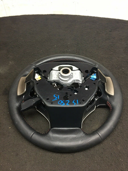 LEXUS IS250 2014-2016 F-Sport Black Leather Steering Wheel RED STITCHING OEM