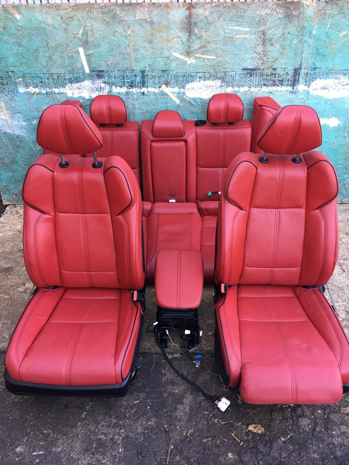 ACURA TLX A-SPEC 2015-2020 Red Full Leather Electric Power Seats No Airbags OEM