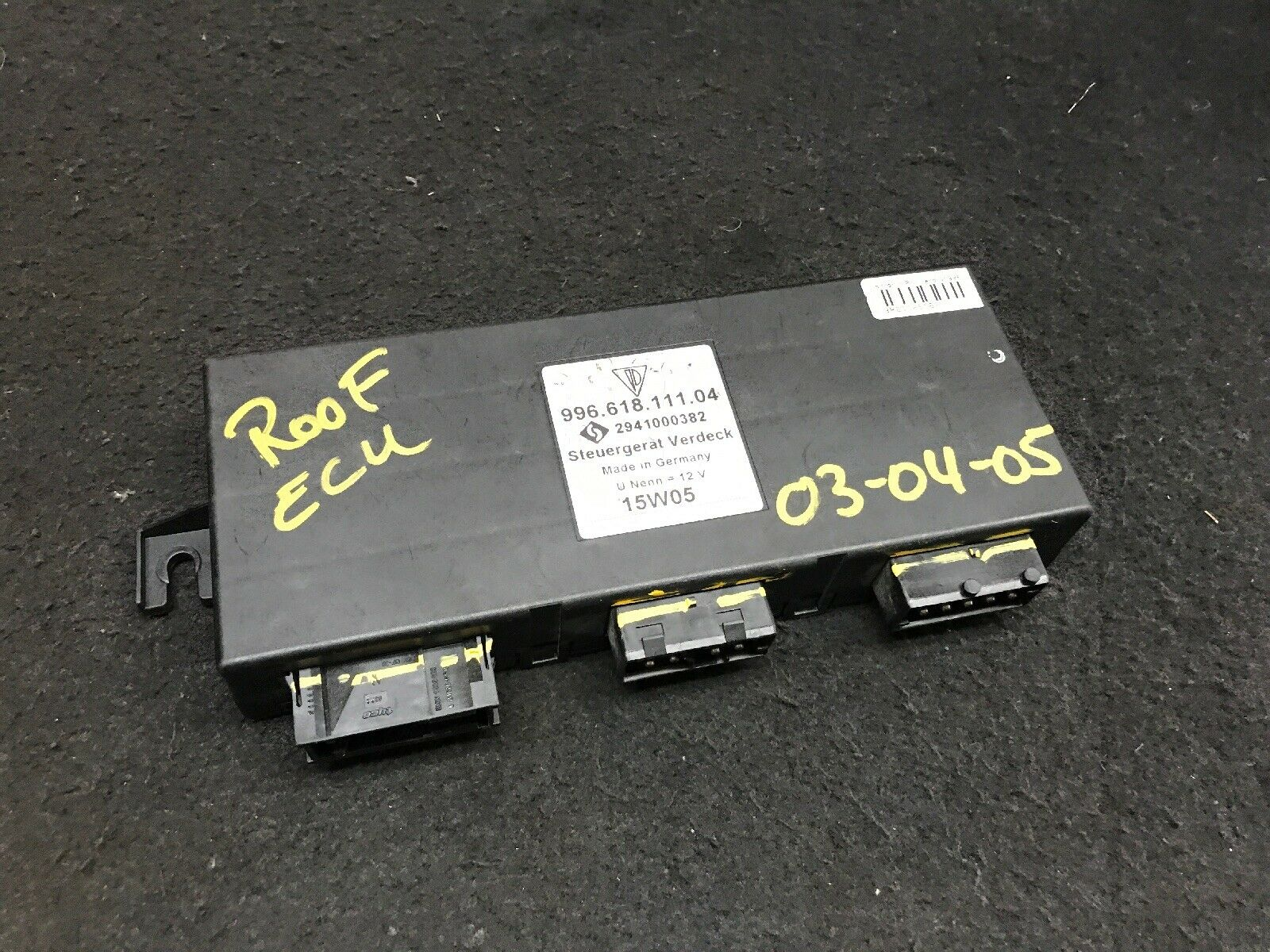 Porsche 911 996 ECU Part# 99661811104 Fits 99-00-01-02-03-04-2005