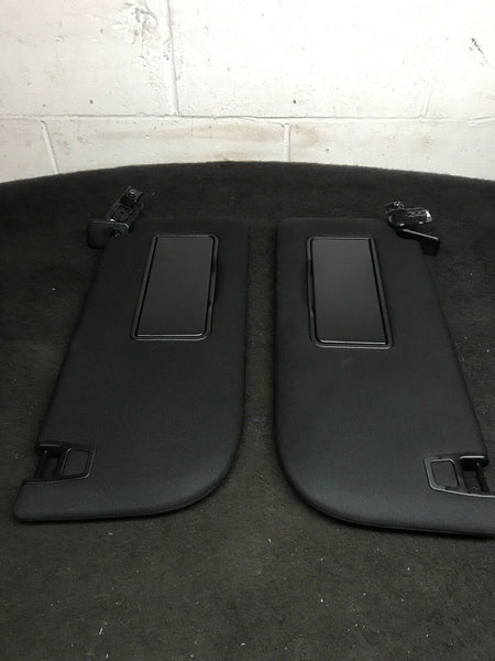 FORD F-150 2015-2019 Black Left Driver Right Passenger Sun Visors W/O Button OEM