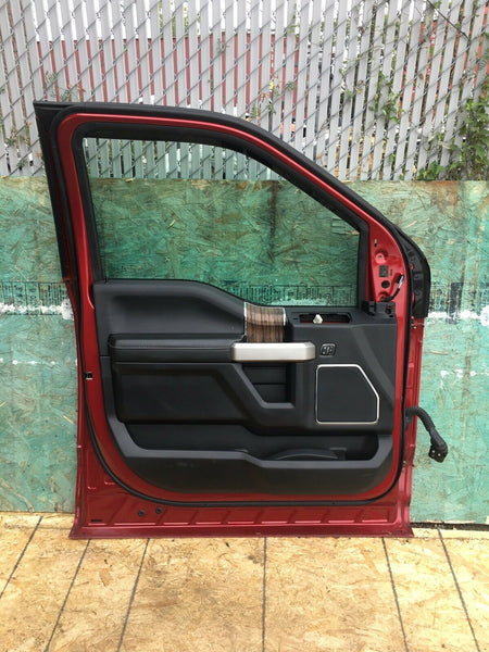 FORD F-150 2018-2019 Red Left LH Driver Side Front Door W/ Interior Panel OEM